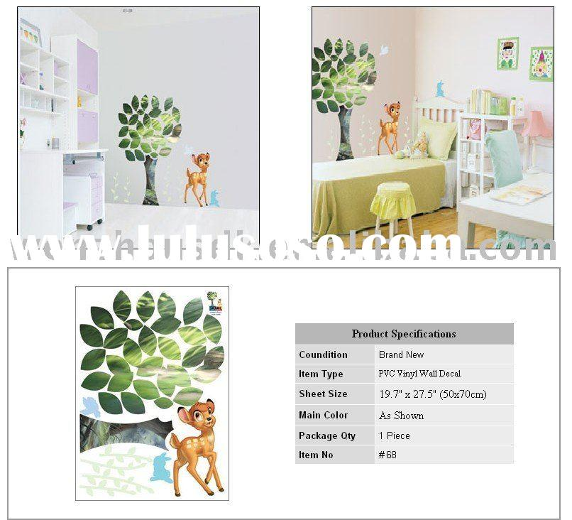 Wall Decals Removable Decor Sticker Stickers Deer Bambai Nursery