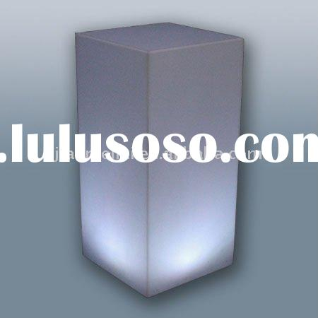 White Frosted acrylic counter display stands, LED Cubes, Tables, and Bars
