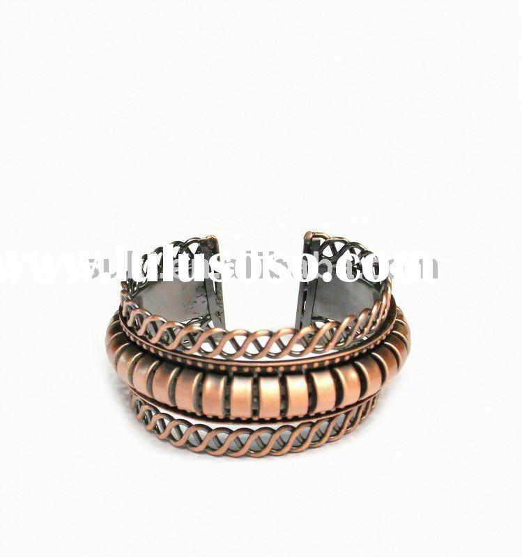 LEATHER CUFFS WHOLESALE, WIDE LEATHER BRACELETS - THAILAND
