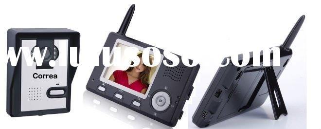 Wireless video door phone with 2.4GHz digital hopping technology for home security