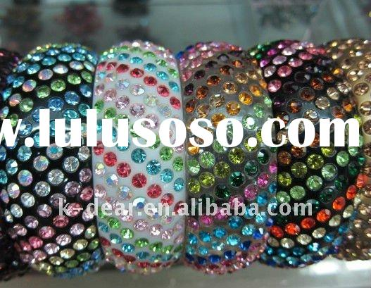 acrylic bangle rhinestone bracelet