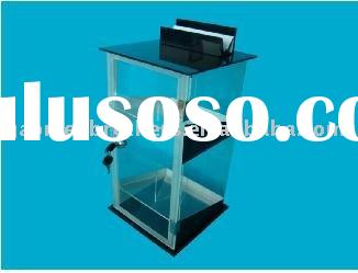 acrylic display humidor with lock