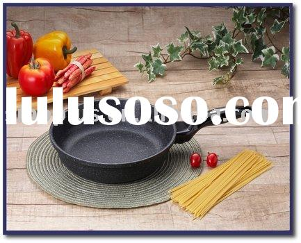 aluminium marble coating non-stick fry pan cookware set