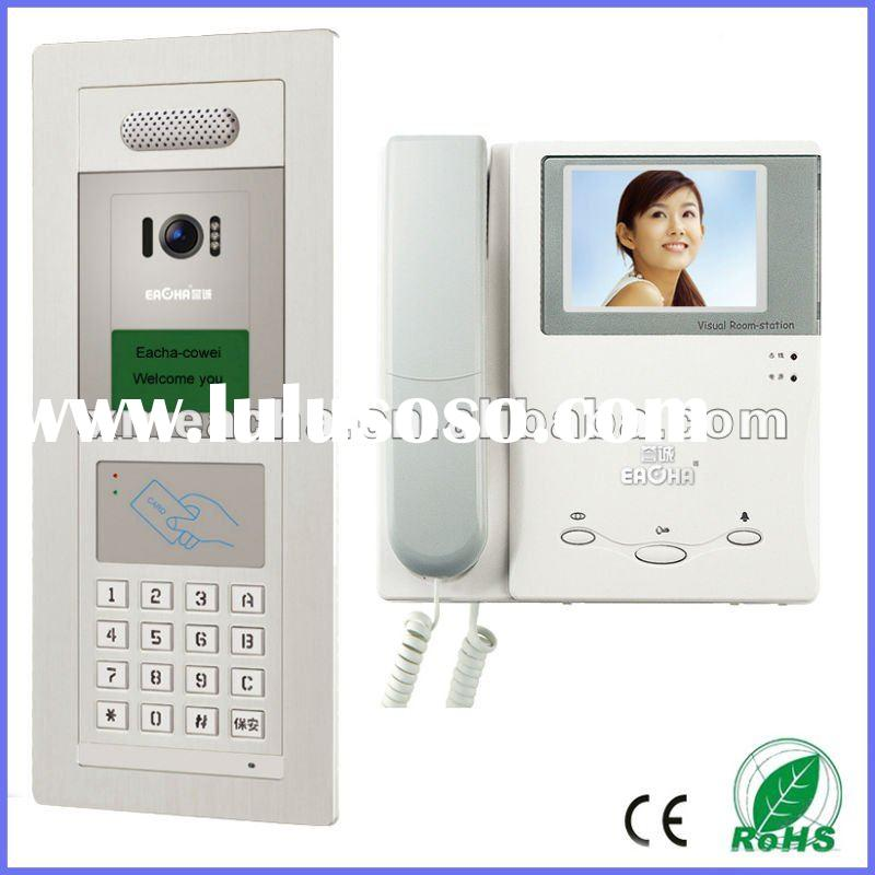 red white blue employee video intercom phone