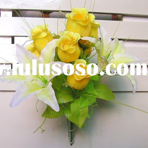 artificial flower,fabric flower,cheap flower for artificial lily rose
