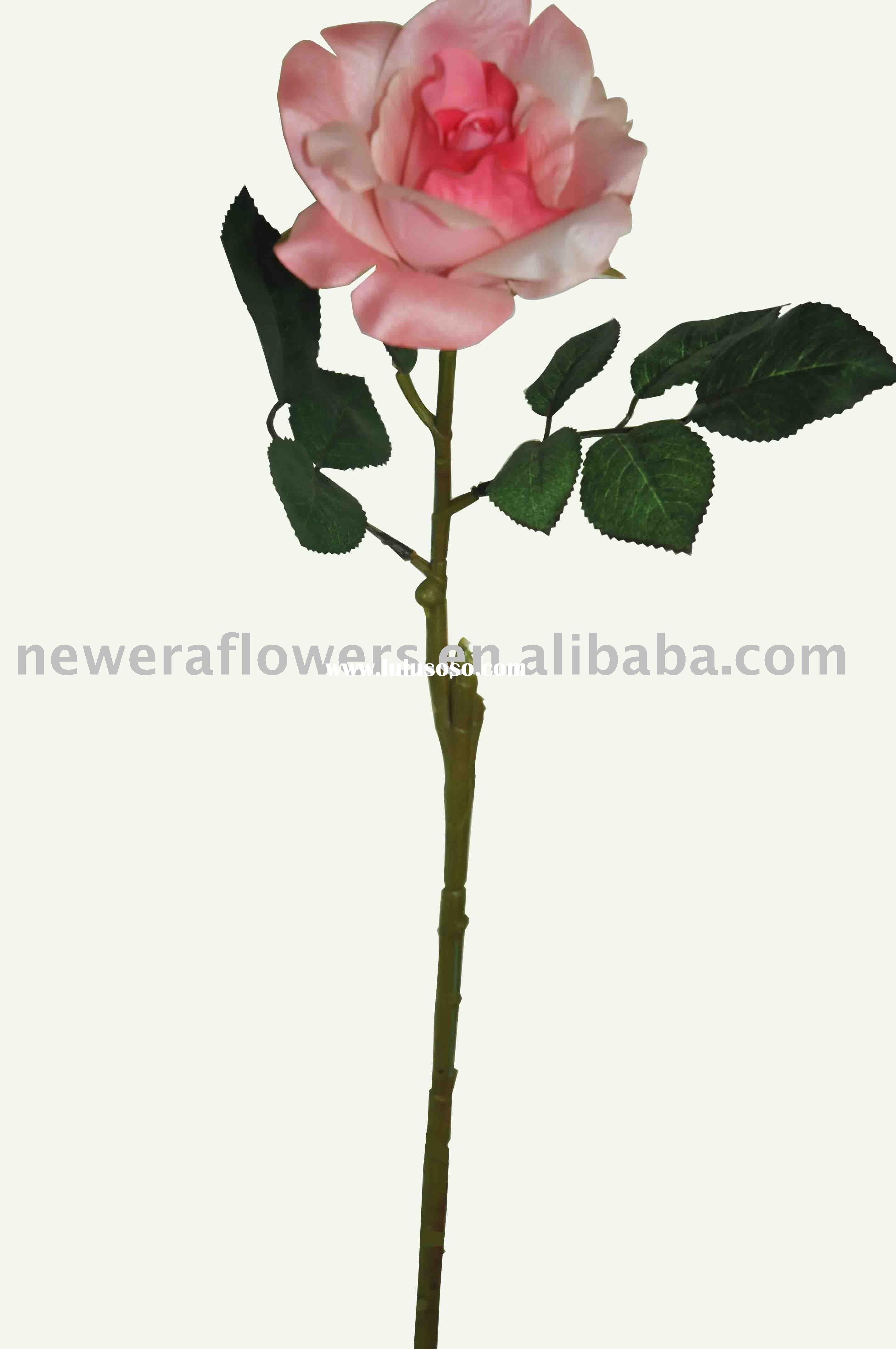artificial rose flower (single stem flower)