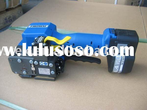 battery strapping machine to plastic band semi automatic strapping machine