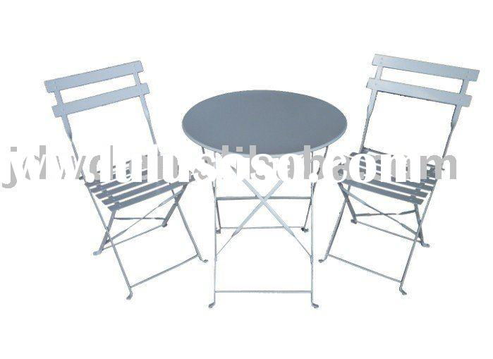 bistro metal folding table and chairs