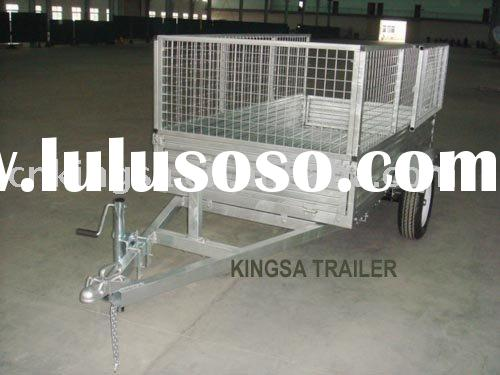 cargo box trailer with mesh cage Galvanized