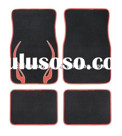 carpet car mat with fire pringting