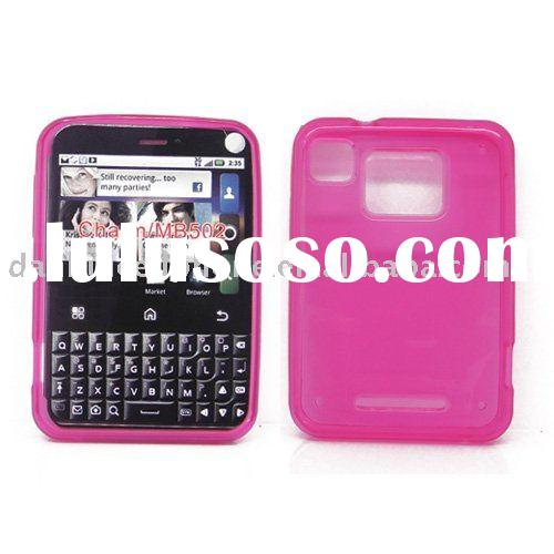 cell phone tpu case for Motorola Charm MB502 pink