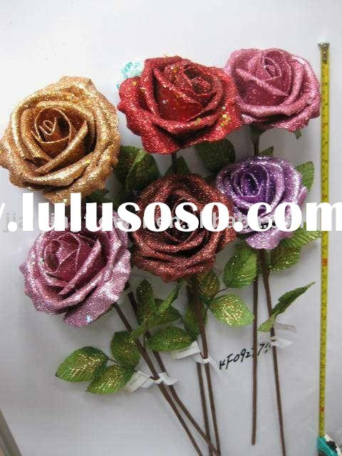 cheap beauty artificial flower rose (season use style)