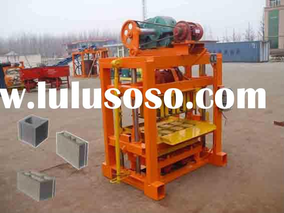 china manual small concrete block making machine