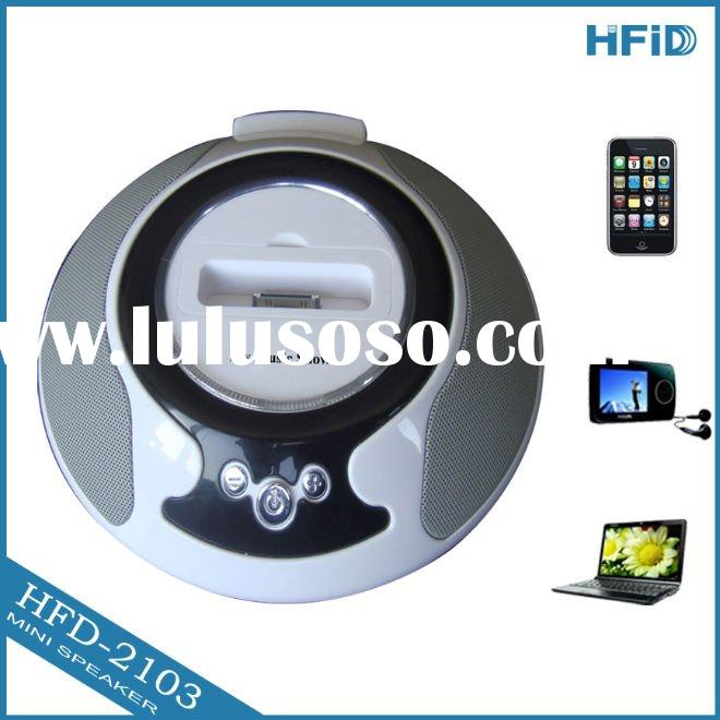 circular flying saucer docking station speaker for iphone and ipod with good sound system+ OEM