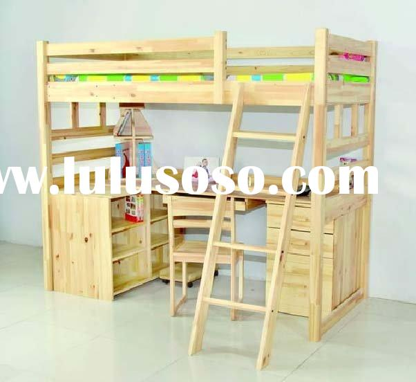 combined bed,solid wood furniture,wooden bed,wooden kid furniture,children bedroom furniture,dormito