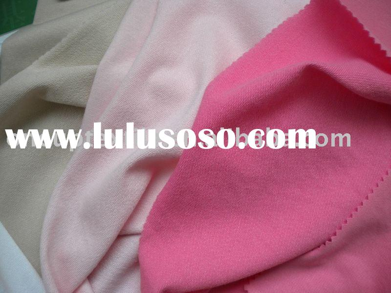 cotton spandex french terry knitted fabric