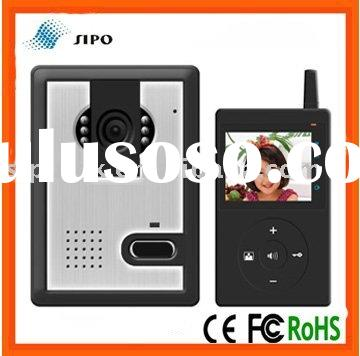 digital wireless video door phone with 2.4 inch indoor monitor