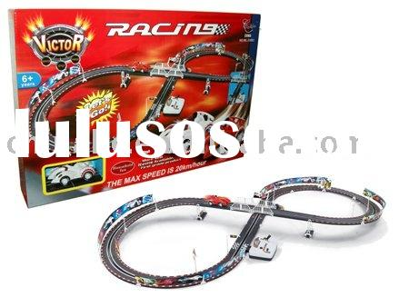electric single car racing track,B/O track racing car,railway toys