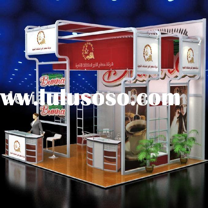 exhibition trade fair booth design and produce by detian display 6mX6m No463