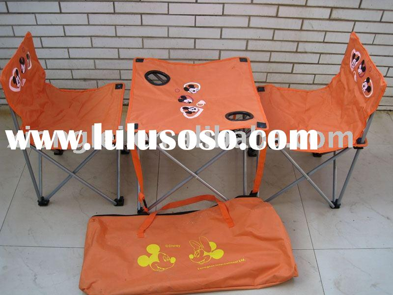 folding beach table and chair set
