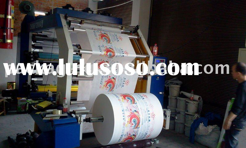 four colors Non-woven fabrics flexographic printing machine
