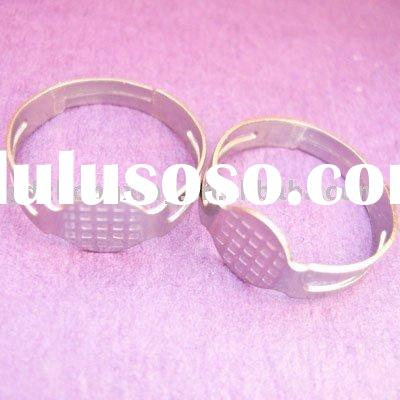 glue on finger ring blank adjustable