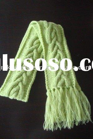 Ruffled Scarf Knitting - Right Hand - Knit Quick SUPER