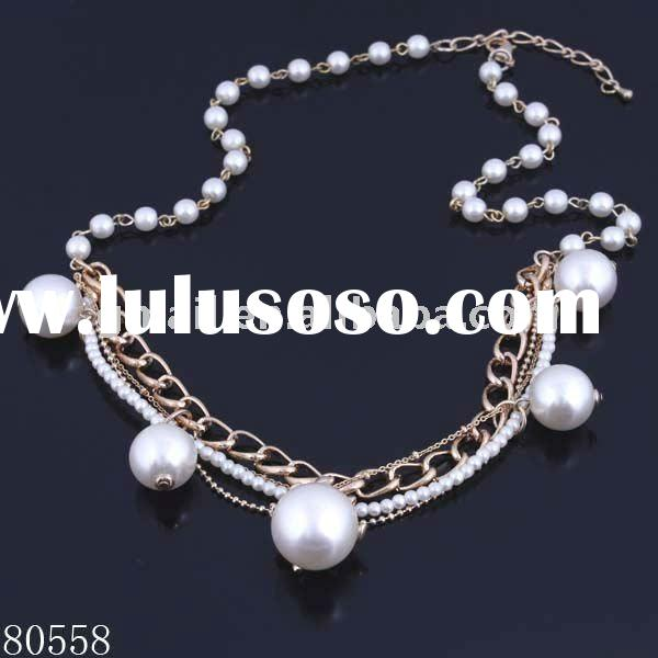 imitation pearl necklace costume jewelry