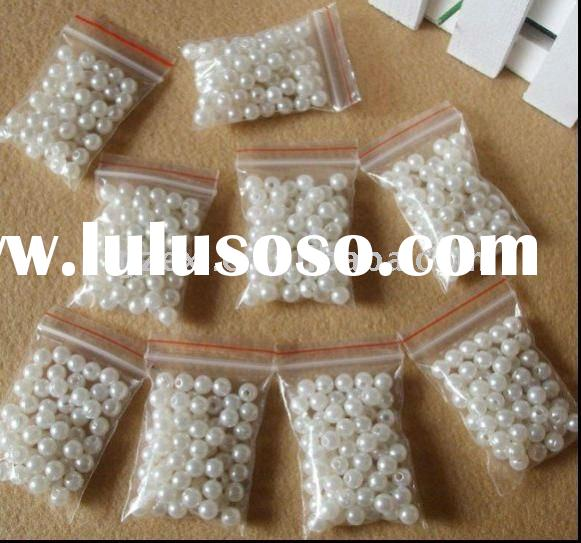 loose ivory faux pearl bead for making jewelry