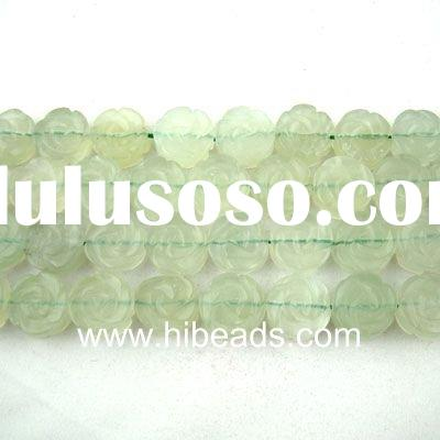 natural dark green jade jewelry beads strand JGB0041