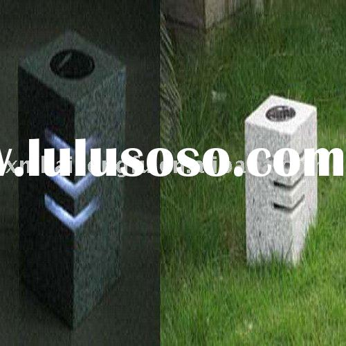 natural stone lamp,Led solar street light,granite gardening lantern