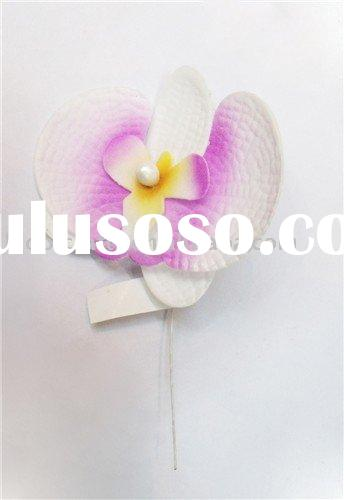orchid foam flowers,hawaii foam flowers,orchid hair clips