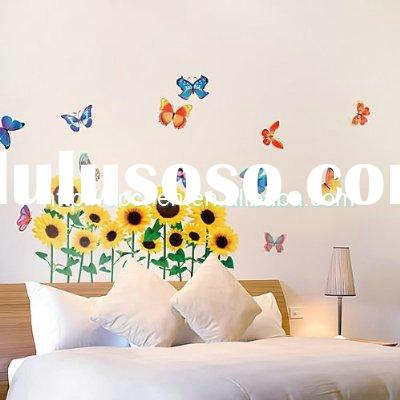 peel and stick butterfly flower removable wall decal