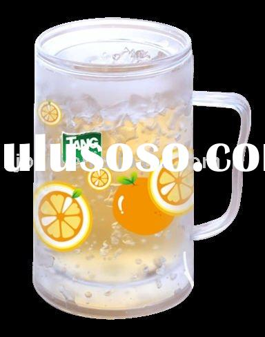 plastic double wall frosty mug / beer mug (liquid /GEL) 300ML