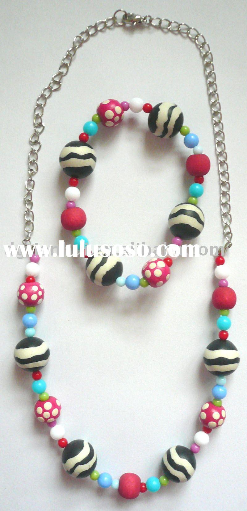 polymer clay jewelry sets beads jewelry sets kids jewelry sets