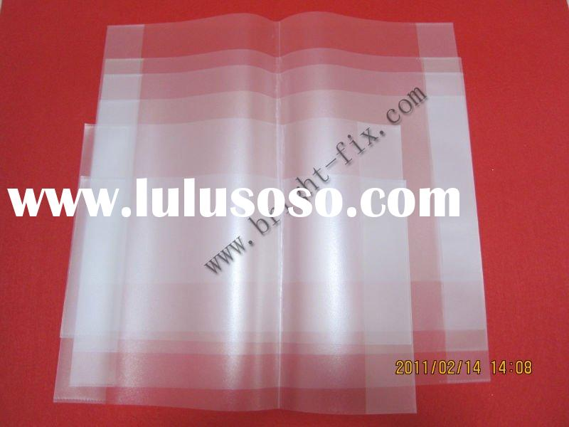 pp clear(tansparent) book cover with orange peel(book cover protection for school and library)/plast