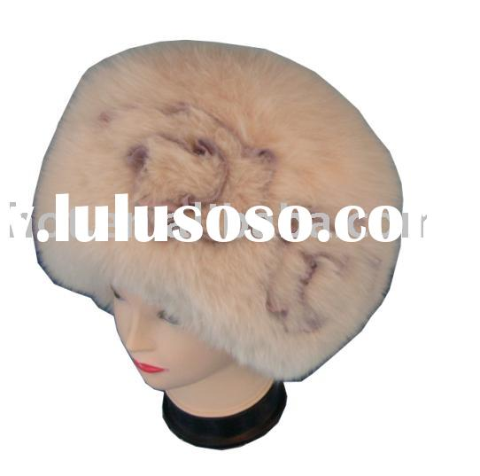 rabbit fur hat/fur hat/ faux fur hat