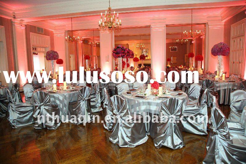 self-tie satin chair cover and universal wedding chair covers