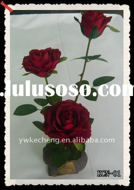 single artificial flower,artificial flower,single artificial rose,artificial hawaiian flowers