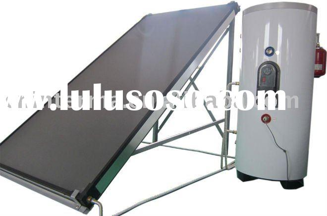 solar keymark 300L flat panel split pressurized solar water heater