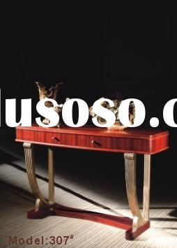 solid wood carved console table