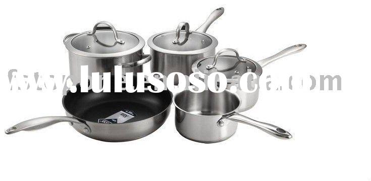 stainless steel cookware set with non-stick
