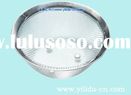 stainless steel kitchen cooking wire mesh basket colander strainer accessory (YLD049)