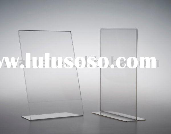 table top acrylic sign holders, acrylic tabletop display