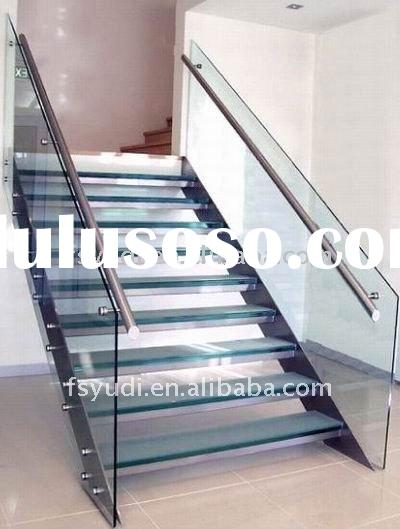 tempered glass staircase and steel staircase