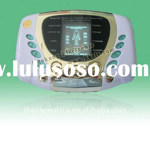 tens machine with laser treatment for curing high blood pressure, hyperglycemia, hyperlipoidemia