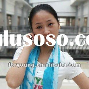 tie dye fabric blue and white stripe scarf