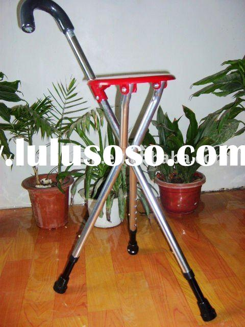 tripod walking seat, folding stick with seat, cane