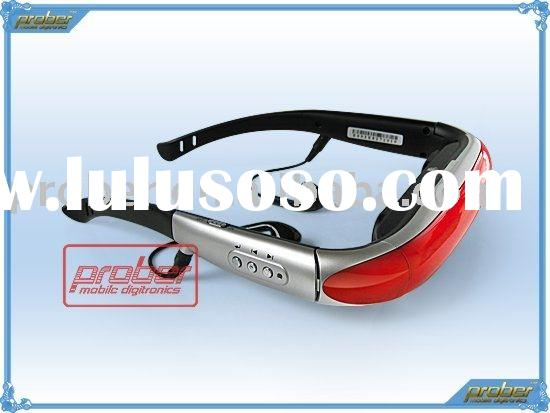 video glasses player/video glasses decoder/mp4 video glasses player/video eyewear/dvd player/portabl