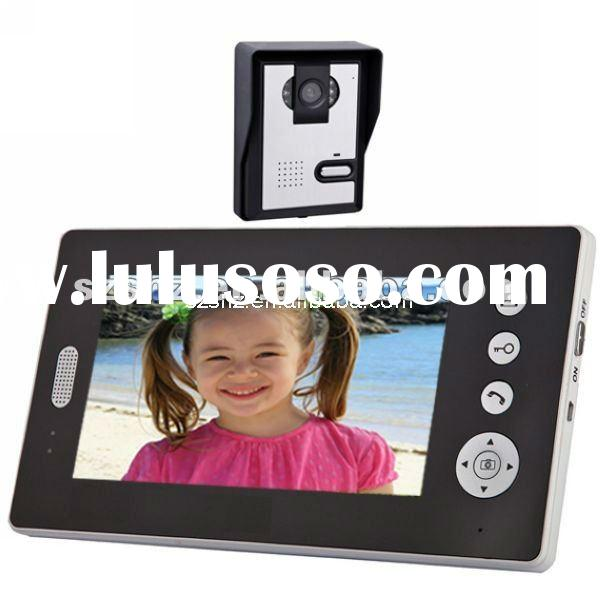 wholesales 7'' screen 2.4GHz Digital wireless video door phone